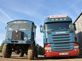 AEC Matador and Scania trucks in Phil Holt livery